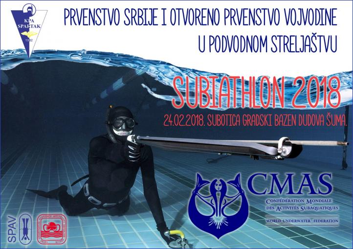 Prvenstvo Srbije i otvoreno prvenstvo Vojvodine u podvodnom streljaštvu SUBIATHL