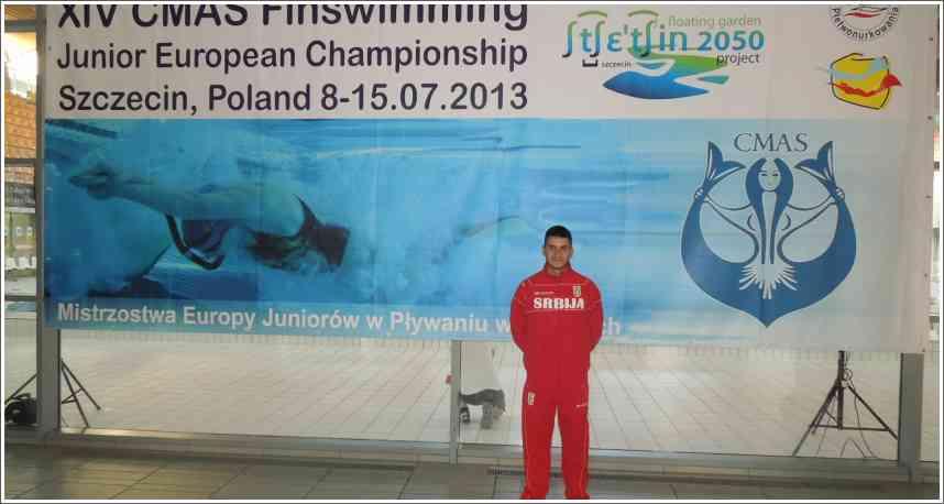 XIV CMAS Finswimming Junior European Championship 8-15.07.2013 Szczecin, Poljska