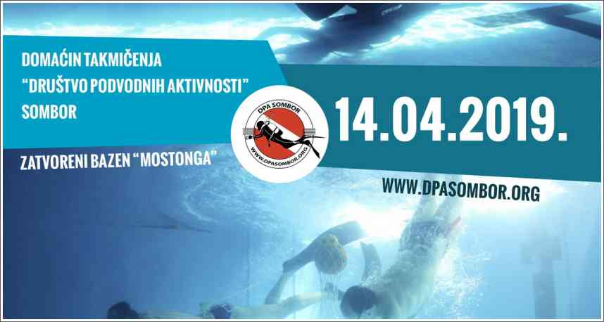 Poziva na takmičenja - Podvodne veštine - Sombor, 14.04.2019