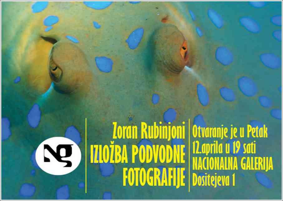 Poziv na izložbu podvodnih fotografija - Zoran Rubinjoni