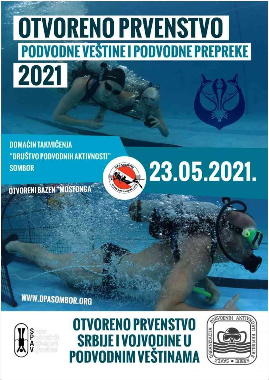 Poziv na takmičenja - Podvodne veštine - Sombor, 23.05.2021