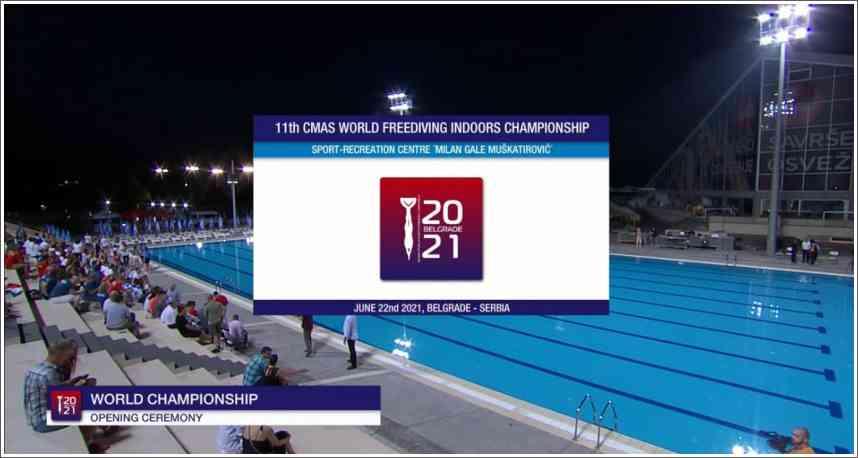 Svečano otvaranja 11th CMAS World Freediving Indoor Championship 2021