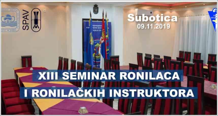 Poziv na XIII seminar ronilaca i ronilačkih instruktora
