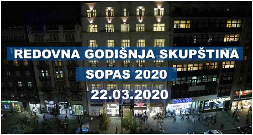Redovna godišnja Skupština - SOPAS 2020