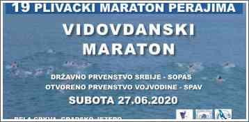 19-ti plivački Vidovdanski maraton perajima - 27.06.2020